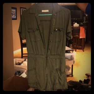 Army green short jumpsuit